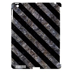 Stripes3 Black Marble & Gray Stone (r) Apple Ipad 3/4 Hardshell Case (compatible With Smart Cover)