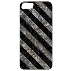 Stripes3 Black Marble & Gray Stone (r) Apple Iphone 5 Classic Hardshell Case