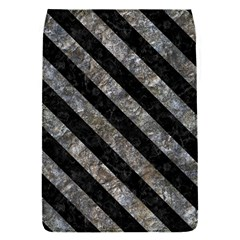 Stripes3 Black Marble & Gray Stone (r) Flap Covers (s)
