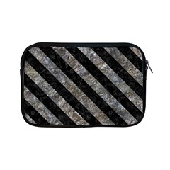 Stripes3 Black Marble & Gray Stone (r) Apple Ipad Mini Zipper Cases