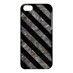 Stripes3 Black Marble & Gray Stone (r) Apple Iphone 5c Hardshell Case