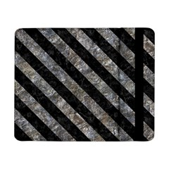 Stripes3 Black Marble & Gray Stone (r) Samsung Galaxy Tab Pro 8 4  Flip Case