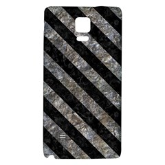 Stripes3 Black Marble & Gray Stone (r) Galaxy Note 4 Back Case