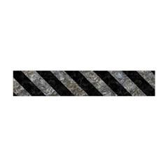 Stripes3 Black Marble & Gray Stone (r) Flano Scarf (mini)