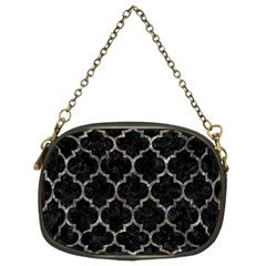 Tile1 Black Marble & Gray Stone Chain Purses (two Sides)