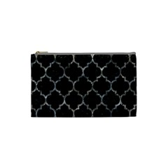 Tile1 Black Marble & Gray Stone Cosmetic Bag (small)