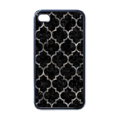 Tile1 Black Marble & Gray Stone Apple Iphone 4 Case (black)