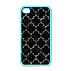 Tile1 Black Marble & Gray Stone Apple Iphone 4 Case (color)