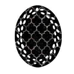 Tile1 Black Marble & Gray Stone Ornament (oval Filigree)