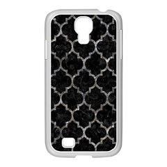 Tile1 Black Marble & Gray Stone Samsung Galaxy S4 I9500/ I9505 Case (white)