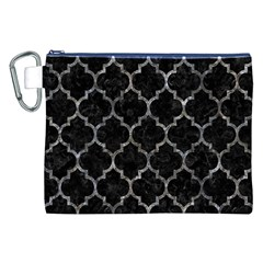 Tile1 Black Marble & Gray Stone Canvas Cosmetic Bag (xxl)