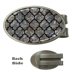 Tile1 Black Marble & Gray Stone (r) Money Clips (oval)