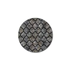 Tile1 Black Marble & Gray Stone (r) Golf Ball Marker