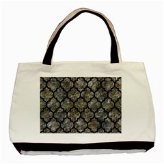 Tile1 Black Marble & Gray Stone (r) Basic Tote Bag (two Sides)