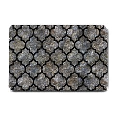 Tile1 Black Marble & Gray Stone (r) Small Doormat