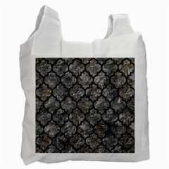 Tile1 Black Marble & Gray Stone (r) Recycle Bag (one Side)