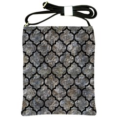 Tile1 Black Marble & Gray Stone (r) Shoulder Sling Bags