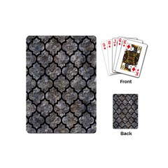 Tile1 Black Marble & Gray Stone (r) Playing Cards (mini)