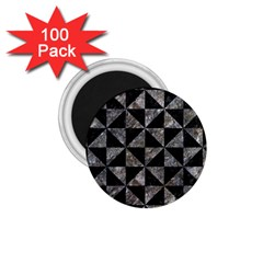 Triangle1 Black Marble & Gray Stone 1 75  Magnets (100 Pack)