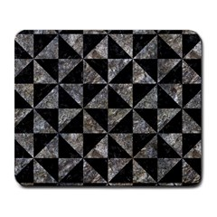 Triangle1 Black Marble & Gray Stone Large Mousepads