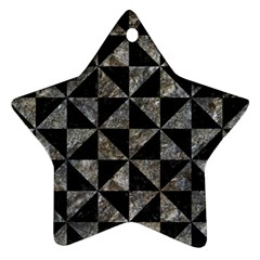 Triangle1 Black Marble & Gray Stone Star Ornament (two Sides)