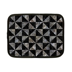 Triangle1 Black Marble & Gray Stone Netbook Case (small)