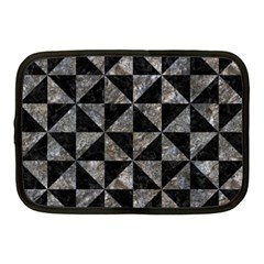 Triangle1 Black Marble & Gray Stone Netbook Case (medium)