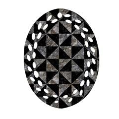 Triangle1 Black Marble & Gray Stone Ornament (oval Filigree)
