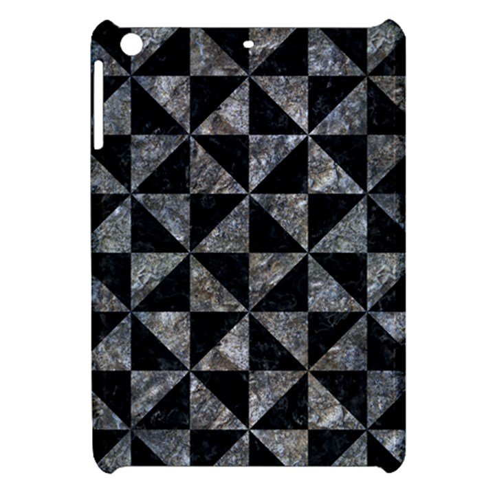 TRIANGLE1 BLACK MARBLE & GRAY STONE Apple iPad Mini Hardshell Case