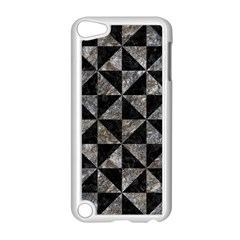 Triangle1 Black Marble & Gray Stone Apple Ipod Touch 5 Case (white)