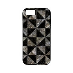 Triangle1 Black Marble & Gray Stone Apple Iphone 5 Classic Hardshell Case (pc+silicone)