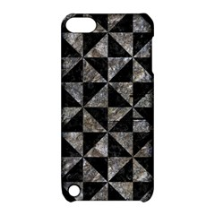 Triangle1 Black Marble & Gray Stone Apple Ipod Touch 5 Hardshell Case With Stand