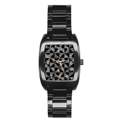 Triangle1 Black Marble & Gray Stone Stainless Steel Barrel Watch