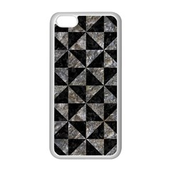 Triangle1 Black Marble & Gray Stone Apple Iphone 5c Seamless Case (white)
