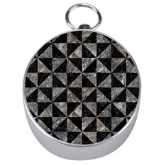 Triangle1 Black Marble & Gray Stone Silver Compasses