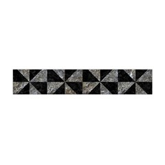 Triangle1 Black Marble & Gray Stone Flano Scarf (mini)