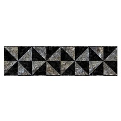 Triangle1 Black Marble & Gray Stone Satin Scarf (oblong)