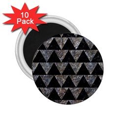 Triangle2 Black Marble & Gray Stone 2 25  Magnets (10 Pack)