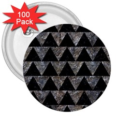 Triangle2 Black Marble & Gray Stone 3  Buttons (100 Pack)