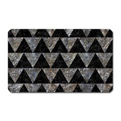 Triangle2 Black Marble & Gray Stone Magnet (rectangular)