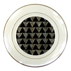 Triangle2 Black Marble & Gray Stone Porcelain Plates
