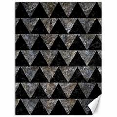 Triangle2 Black Marble & Gray Stone Canvas 12  X 16