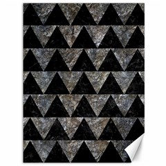 Triangle2 Black Marble & Gray Stone Canvas 36  X 48