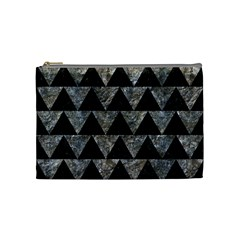 Triangle2 Black Marble & Gray Stone Cosmetic Bag (medium)