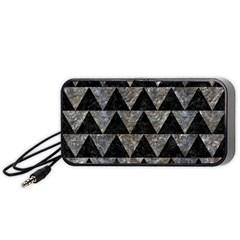 Triangle2 Black Marble & Gray Stone Portable Speaker