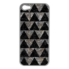 Triangle2 Black Marble & Gray Stone Apple Iphone 5 Case (silver)