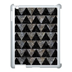 Triangle2 Black Marble & Gray Stone Apple Ipad 3/4 Case (white)