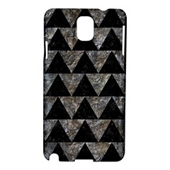 Triangle2 Black Marble & Gray Stone Samsung Galaxy Note 3 N9005 Hardshell Case