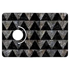 Triangle2 Black Marble & Gray Stone Kindle Fire Hdx Flip 360 Case