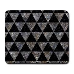 Triangle3 Black Marble & Gray Stone Large Mousepads